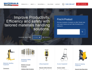 materialshandling.com.au screenshot