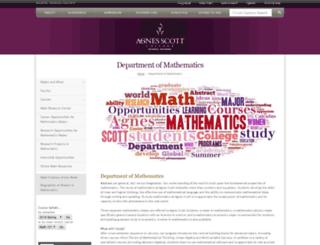 math.agnesscott.edu screenshot