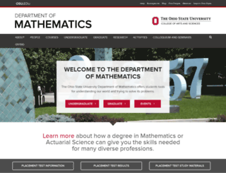 math.osu.edu screenshot