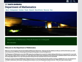 math.ucsb.edu screenshot