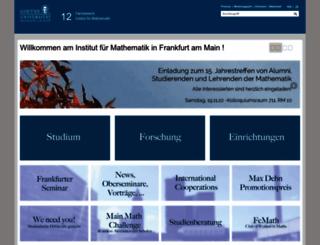 math.uni-frankfurt.de screenshot