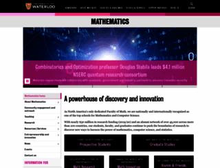 math.uwaterloo.ca screenshot
