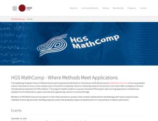 mathcomp.uni-heidelberg.de screenshot