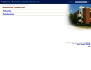 mathcs.carleton.edu screenshot