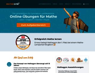 mathegym.de screenshot