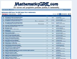 mathematicsgre.com screenshot