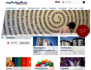 mathematikum.de screenshot