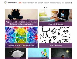 mathenvideo.fr screenshot