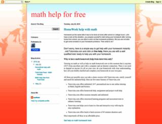 mathhelpforfree.blogspot.com screenshot
