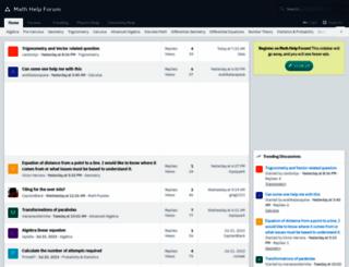 mathhelpforum.com screenshot