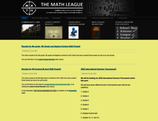 mathleague.com screenshot