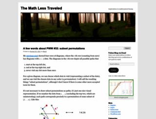 mathlesstraveled.com screenshot