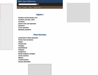 mathopenref.com screenshot