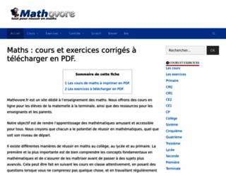 mathovore.fr screenshot