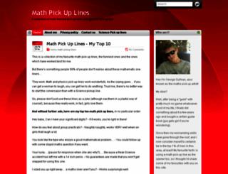 mathpickuplines.com screenshot