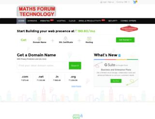 mathsforumtech.com screenshot