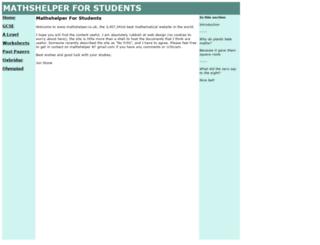 mathshelper.co.uk screenshot