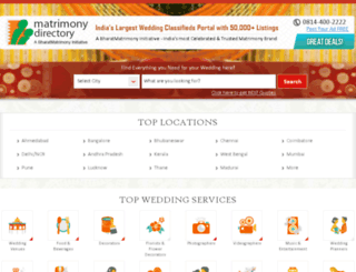 matrimonydirectory.com screenshot
