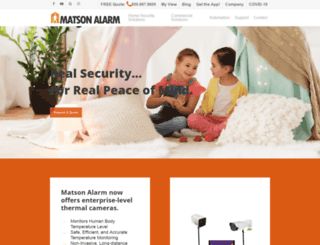 matsonalarm.com screenshot
