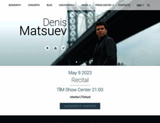 matsuev.com screenshot