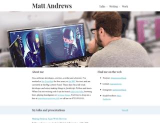 mattandrews.info screenshot