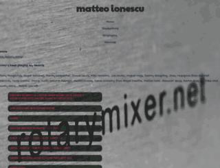 matteoionescu.com screenshot