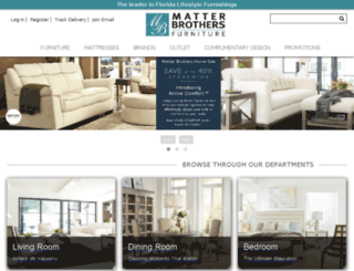 matterbrothersfurniture.com screenshot