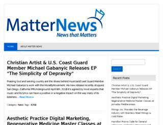 matternews.com screenshot