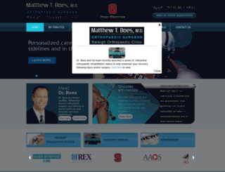 matthewboesmd.com screenshot