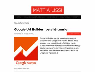 mattialissi.com screenshot
