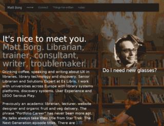 mattjb.org screenshot
