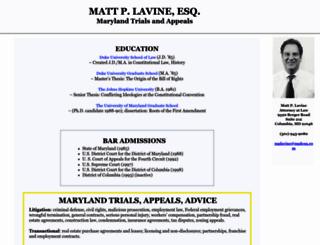 mattlavine.com screenshot