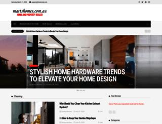mattshomes.com.au screenshot