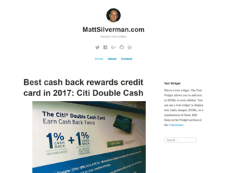 mattsilverman.com screenshot