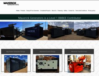 maverickgenerators.co.za screenshot