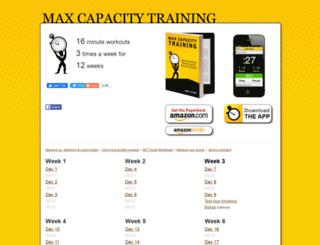 maxcapacitytraining.com screenshot