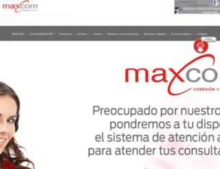 maxcom.com.mx screenshot
