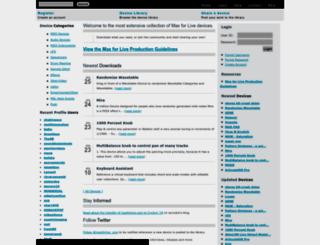 maxforlive.com screenshot