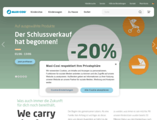 maxi-cosi.de screenshot