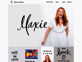 maxiemccoy.com screenshot