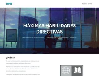 maximashabilidadesdirectivas.com screenshot