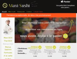 maxisushi.com screenshot