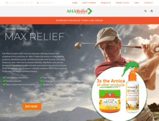 maxrelief.us screenshot