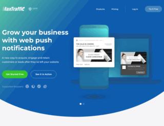 maxtraffic.com screenshot