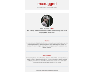 maxuggeri.com screenshot