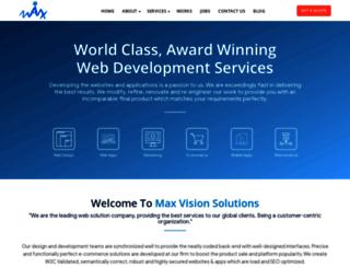 maxvisionsolutions.com screenshot