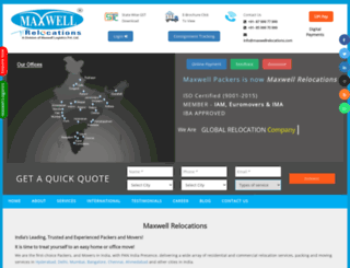 maxwellpackers.com screenshot