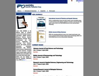 maxwellsci.com screenshot
