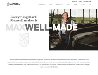 maxwellwines.com.au screenshot