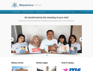 mayantara.sch.id screenshot
